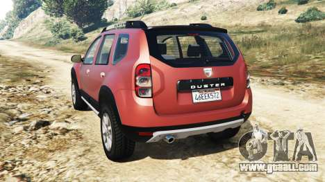 GTA 5 Dacia Duster 2014 rear left side view