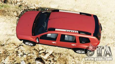GTA 5 Dacia Duster 2014 back view