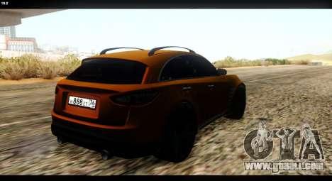 Infiniti FX37 for GTA San Andreas back view