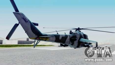 Mi-24V GDR Air Force 45 for GTA San Andreas back left view