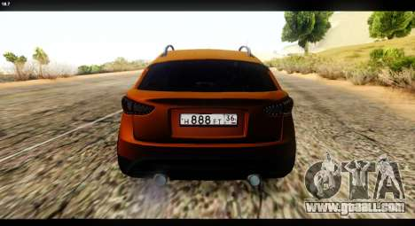 Infiniti FX37 for GTA San Andreas back left view