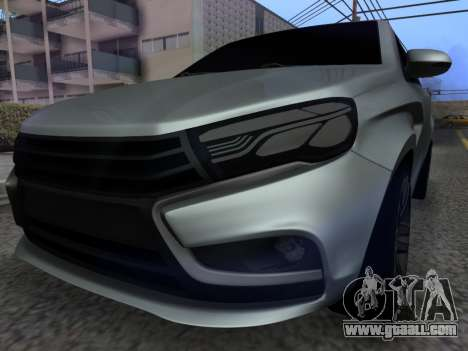 Lada Vesta HD (beta) for GTA San Andreas back view