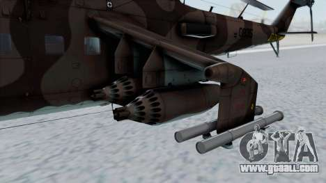 Mi-24V Soviet Air Force 0835 for GTA San Andreas right view