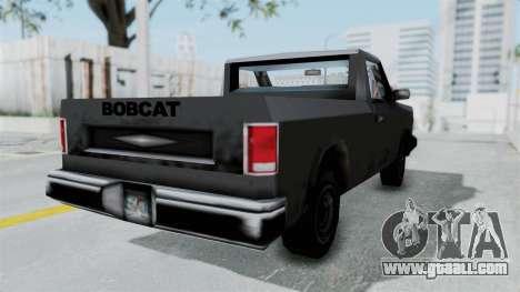 Beta VC Bobcat for GTA San Andreas back left view