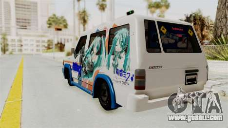 Toyota Kijang Miku Itasha Version for GTA San Andreas left view