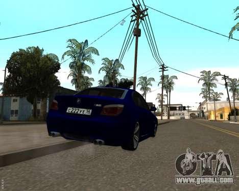 BMW M5 E60 v1.0 for GTA San Andreas inner view