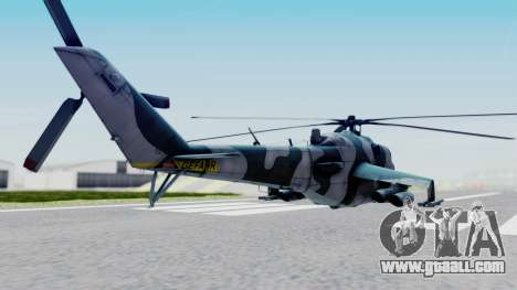 Mi-24V GDR Air Force 45 for GTA San Andreas left view
