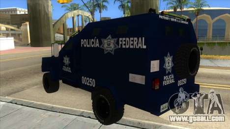 Black Scorpion Police for GTA San Andreas back left view