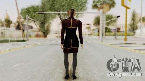 Mass Effect 3 Jack Official Skirt for GTA San Andreas third screenshot