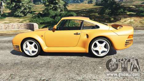 GTA 5 Porsche 959 1987 left side view