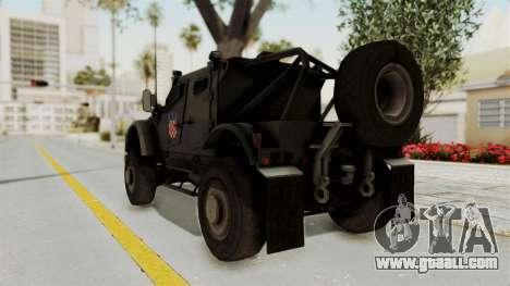 Croatian Oshkosh M-ATV Desert for GTA San Andreas back left view