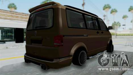 Volkswagen Transporter TDI Final for GTA San Andreas left view