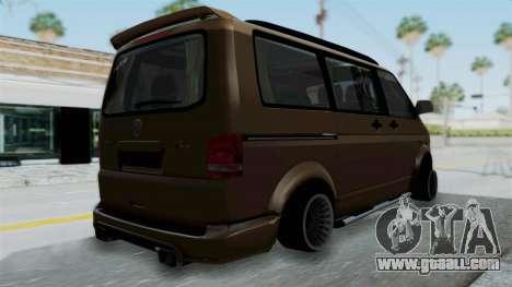 Volkswagen Transporter TDI Final for GTA San Andreas left view