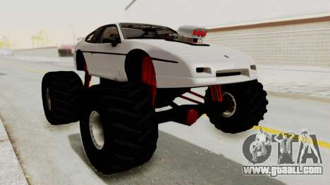 Pontiac Fiero GT G97 1985 Monster Truck for GTA San Andreas back left view