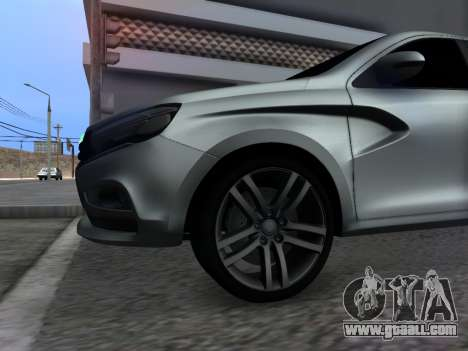 Lada Vesta HD (beta) for GTA San Andreas inner view