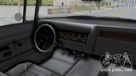 GTA 5 Declasse Tornado No Bobbles and Plaque IVF for GTA San Andreas inner view