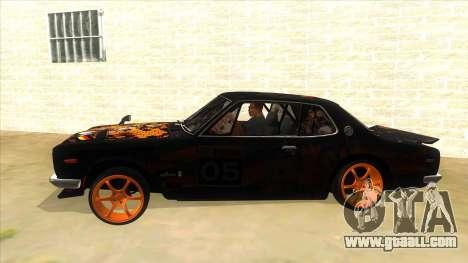 1971 Nissan GT-R Hakosuka for GTA San Andreas left view