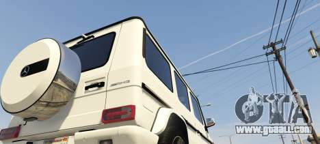 GTA 5 2013 Mercedes Benz G65 AMG [Replace] rear left side view