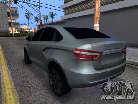 Lada Vesta HD (beta) for GTA San Andreas back left view
