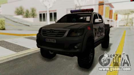 Toyota Hilux 4WD 2015 Georgia Police for GTA San Andreas