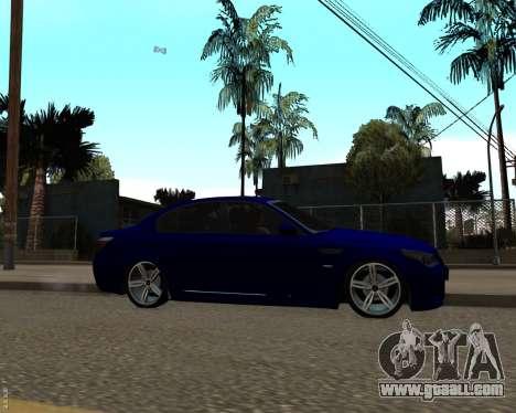 BMW M5 E60 v1.0 for GTA San Andreas left view