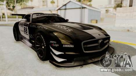 Mercedes-Benz SLS AMG GT3 PJ2 for GTA San Andreas inner view