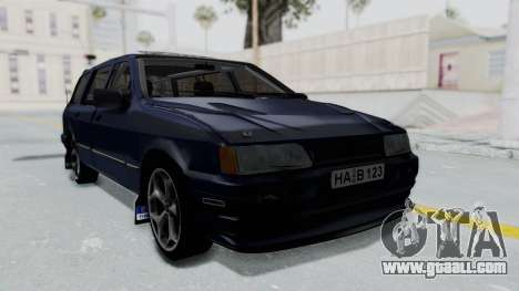Ford Sierra Turnier 4x4 Saphirre Cosworth for GTA San Andreas back left view