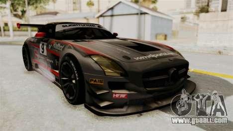 Mercedes-Benz SLS AMG GT3 PJ2 for GTA San Andreas upper view