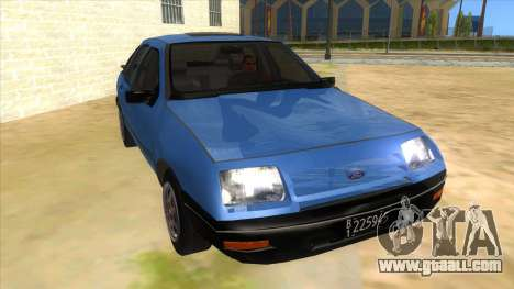 Ford Sierra 1.6 GL Updated for GTA San Andreas back view