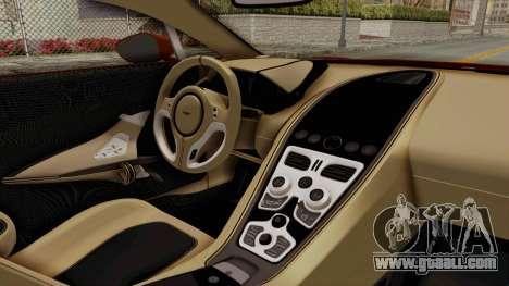 Aston Martin One-77 2010 Autovista Interior for GTA San Andreas right view
