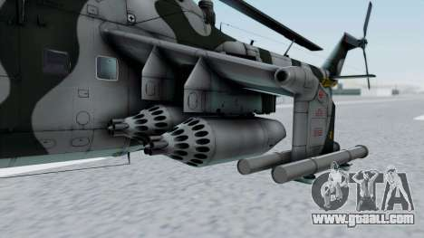 Mi-24V GDR Air Force 45 for GTA San Andreas back view