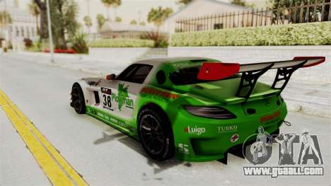 Mercedes-Benz SLS AMG GT3 PJ4 for GTA San Andreas inner view