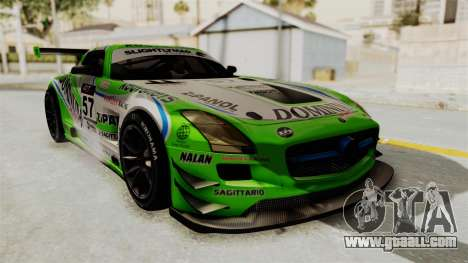 Mercedes-Benz SLS AMG GT3 PJ2 for GTA San Andreas wheels