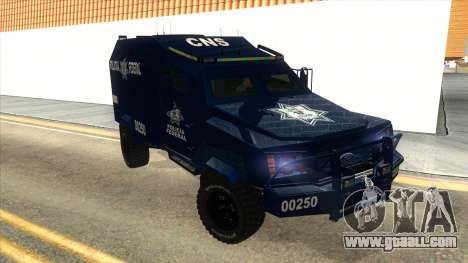 Black Scorpion Police for GTA San Andreas back view