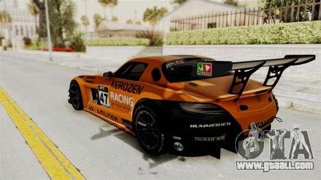 Mercedes-Benz SLS AMG GT3 PJ4 for GTA San Andreas upper view