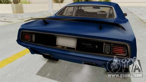 Plymouth Hemi Cuda 1971 Drag for GTA San Andreas inner view