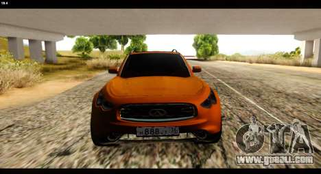 Infiniti FX37 for GTA San Andreas right view