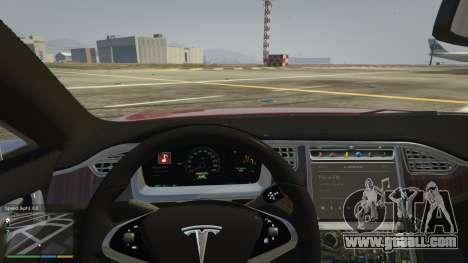 GTA 5 Tesla Model S steering wheel