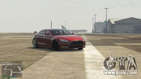 GTA 5 Tesla Model S left side view