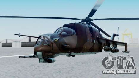 Mi-24V Soviet Air Force 0835 for GTA San Andreas