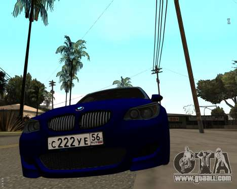 BMW M5 E60 v1.0 for GTA San Andreas back left view