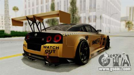 Nissan GT-R Fake Taxi for GTA San Andreas right view