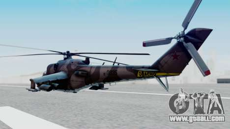 Mi-24V Soviet Air Force 0835 for GTA San Andreas left view