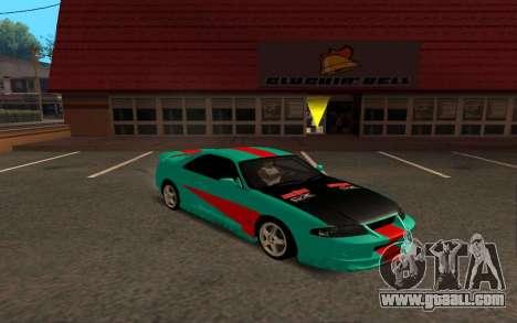 Nissan Skyline R33 Tunable for GTA San Andreas back left view