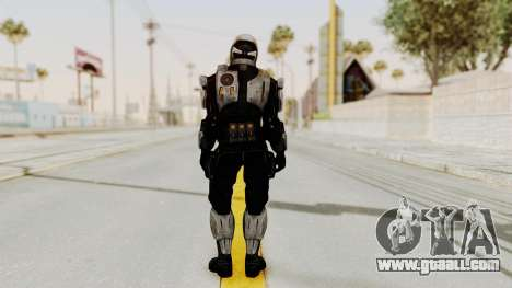 Mass Effect 3 Shepard Ajax Armor with Helmet for GTA San Andreas third screenshot