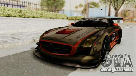 Mercedes-Benz SLS AMG GT3 PJ4 for GTA San Andreas bottom view
