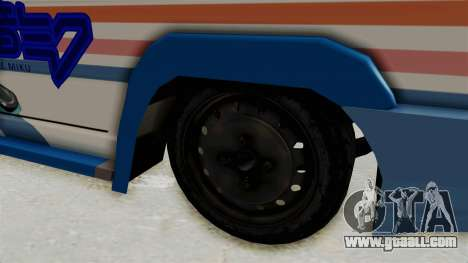Toyota Kijang Miku Itasha Version for GTA San Andreas back view