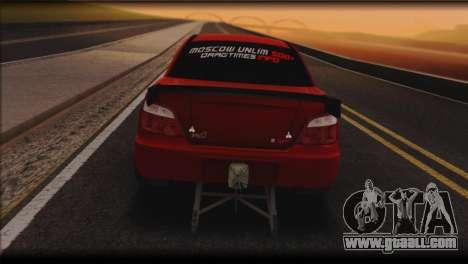 Subaru Impreza STi Drag Racing Unlim 500 for GTA San Andreas back left view