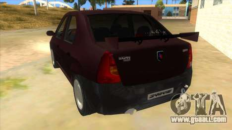 Dacia Logan Sport for GTA San Andreas back left view