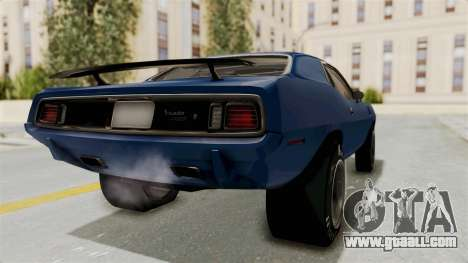 Plymouth Hemi Cuda 1971 Drag for GTA San Andreas back left view